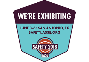 We are exhibiting at ASSE Safety 2018